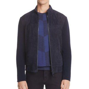 ARMANI COLLEZIONI - Men's Mixed Media Suede Jacket